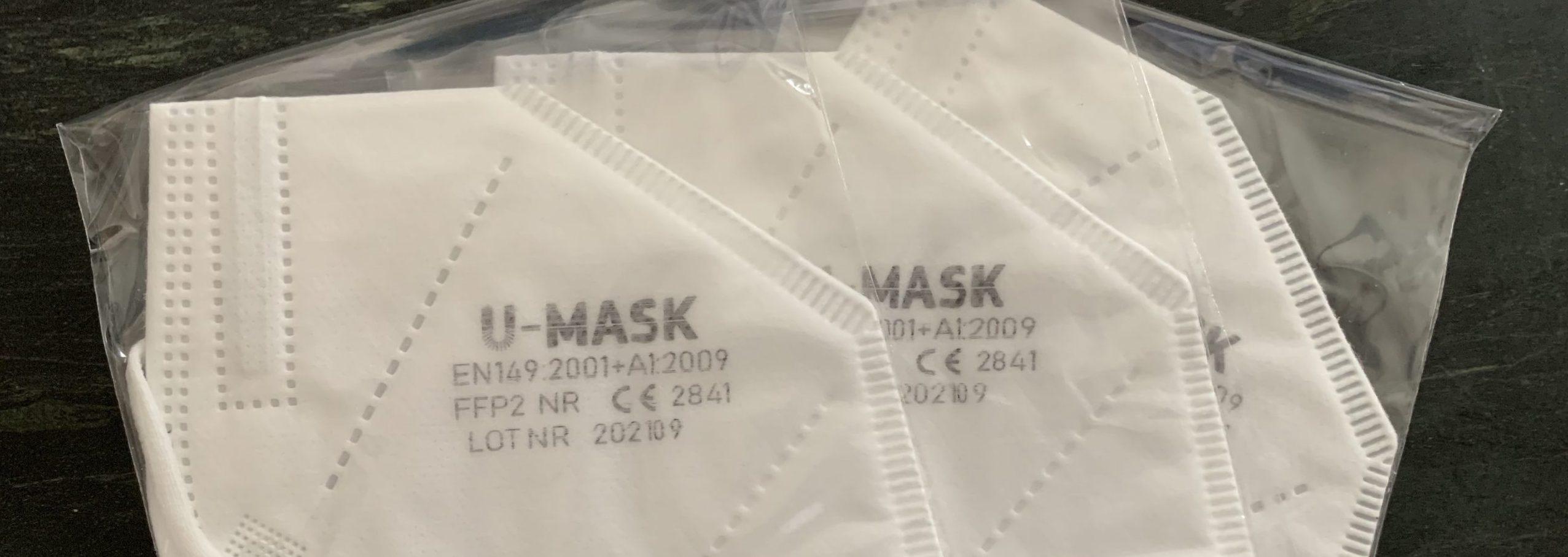 Certifikované FFP2 respirátory – U Mask – od 0,29€/kus